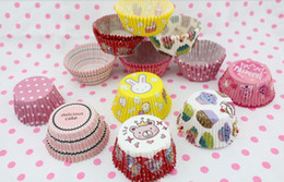Wholesale designing cupcakes online – design 40 assorted design baking cups cupcake liners muffin cases Wedding favor baby shower birthday party paper