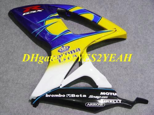 Carrosserie Kit voor 2006 2007 Suzuki GSXR600 750 GSXR600 GSXR750 K6 06 07 GSXR 600 GSXR 750 Geel Blue Backings Kit SJ44