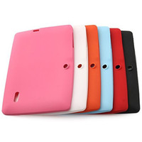 Wholesale Allwinner Cover Silicon - 50pcs Colorful Multi color Soft Silicone Rubber Back Cover Cases For Q88 Allwinner a13 Dual Camera Tablet PC MID DHL Free Shipping