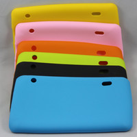 "Wholesale A13 Gsm - Multi-color Colorful Soft Silicone Rubber Back Cover Case For 86v 7"" Allwinner A13 2G GSM Phone Calling Tablet PC MID 10pcs Free Shipping"