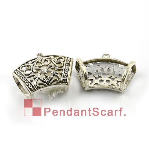 / accessori di pendente della sciarpa di modo dei monili fai-da-te caldi placcati argento placcato in lega di zinco Barre dello scorrevole di disegno, trasporto libero, AC0003A