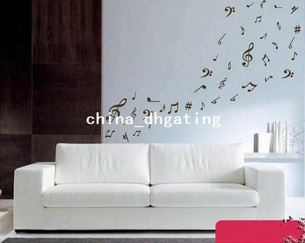 Removable Music Note Wall Decals Stickers Decoration Musical Music Room Design For Living Room Bedroom Removable Wall Decals Removable Wall Decals For Bedroom From China Dhgating 15 92 Dhgate Com