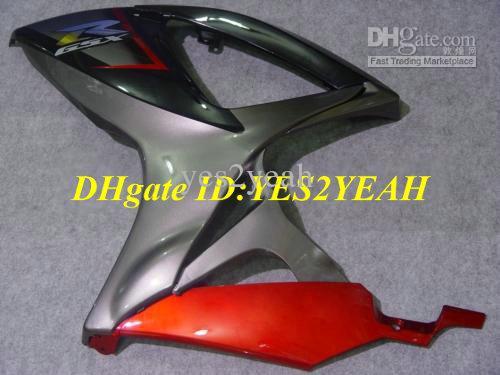 Kit carenado para SUZUKI GSXR600 750 2006 2007 GSXR600 GSXR750 K6 06 07 GSXR 600 GSXR 750 kit carenados negro rojo SJ47