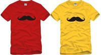 ücretsiz gönderim çocuk t-shirt toptan satış-Ücretsiz kargo Perakende Tee sıcak satış yaz çocuklar t gömlek tops bıyık baskılı t gömlek 90-150 cm çocuklar için sakal tee 6 renk% 100% pamuk