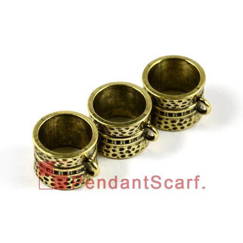 / Top Populaire Bijoux DIY Écharpe Accessoires Antique Bronze Zinc Alliage Conception Bails Slide Bails Tube, Livraison Gratuite, AC0006B