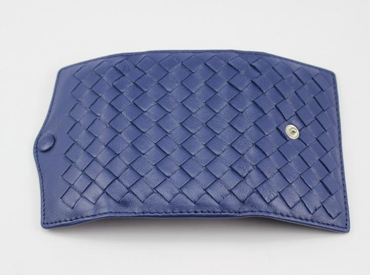 Whoesale Moda Borsa di pecora 6buskle Portachiavi Real Genuine Pelle Portachiavi Key Knitting Key Portafoglio Piccolo regalo colore blu con scatola regalo