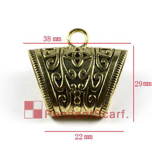 / heiße Art und Weise 7 Entwürfe mischte DIY Schmucksache-Schal-hängende antike Bronze überzogene Geisteslegierung-Dia-Kaution-Rohr, freies Verschiffen, ACMIX