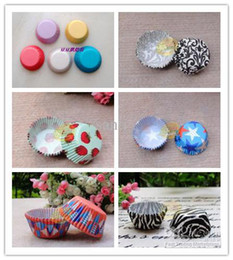 Wholesale Cupcake Cases Supplies - Party Supplies Assorted 10 designs cake decoration cupcake cases baking liners Medium size