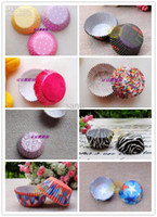 Wholesale Wedding Cupcake Mixed - 3.5cm base Mixed patterns Cupcake linners birthday wedding party mffin cake liner cases