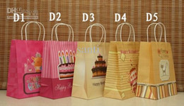 Wholesale Paper Vegetables - Popular Hot 15 Style (27*21*11cm) kraft paper bag & Festival gift package, Fashionable gift paper bag,happy birthday paper bags