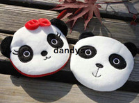 Wholesale Key Panda Free Shipping - Free Shipping New panda couple Portable Wallet key holder fabric coin bag small Purses