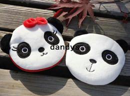 Carteras panda online-Envío Gratis / Nueva pareja de panda Cartera Portátil / llavero / monedero de tela / monederos pequeños