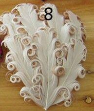 Cuscinetti Nagorie / pastiglie di piume ricce, accessori ornamenti di piume arricciati Nagorie