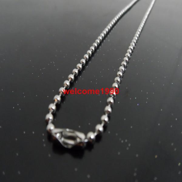 16 pouces - 40inch. Collier de chaîne en acier sphérique en acier inoxydable de 3mm La longueur peut être choisie, le fabricant se vend un bon prix