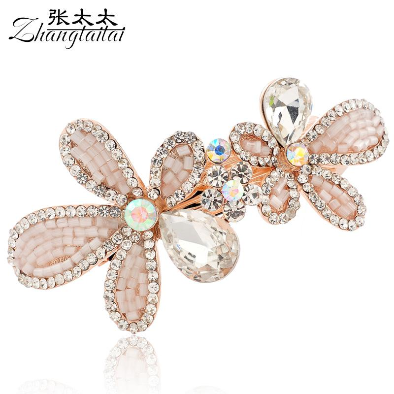 Mrs Chang Korean Jewelry Fine Crystal Collet Head Flower