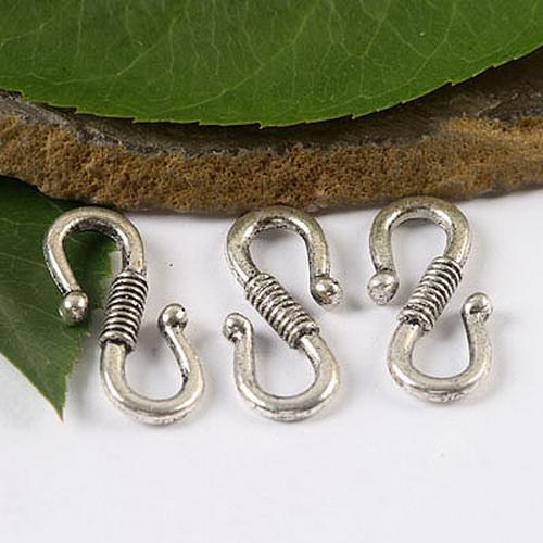 prata tibetano conector S encantos achados H1620
