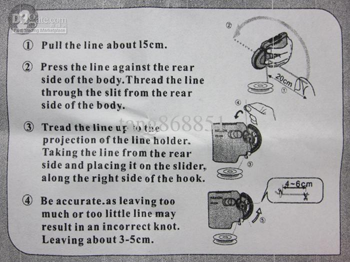 Pesca automática * Pequeña delgada * Hook Line Tier Machine