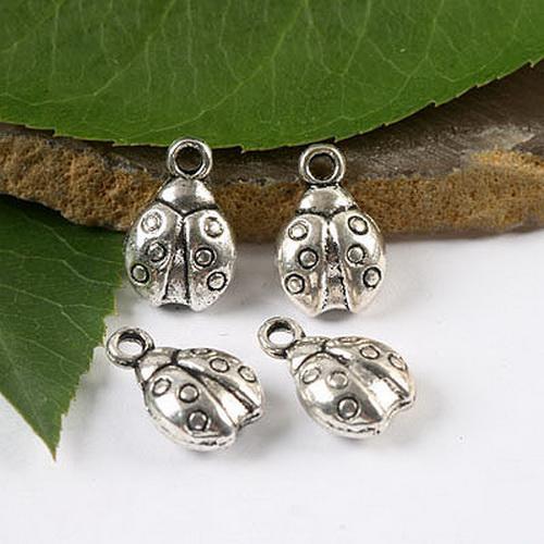 20 stks Tibetaanse zilveren lieveheersbeestje kever stijl bedel H1633