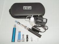 Wholesale Ego Series Pen - Ego CE4+ Dual Electronic Cigarette kits Double Pens 650mah 900mah 1100mah Zipper Case 2 Atomizer Clearmozier 2 Battery Various colors