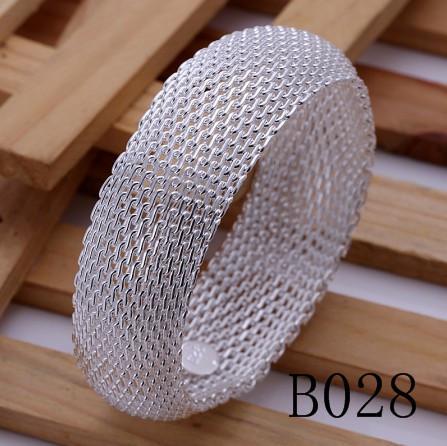 Gemengde bestellingen Topkwaliteit 925 Sterling Verzilverd Charme Bangles Fashion Classic Armband voor Vrouwen Gratis verzending /