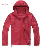 Wholesale Good Jacket Brands - free shipping!good quality 2013 new brand Lovers Waterproof UV proof Jacket,skin jacket,red color, 14 colors XXXL