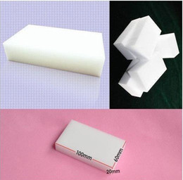 Wholesale Packaging Eraser - Free Shipping 100pcs lot 100x60x20mm Magic Sponge Eraser Melamine Cleaner,multi-functional Cleaning (no package)