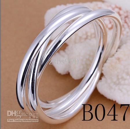 Ordem mista Bijuterias 925 pulseiras de prata charme pulseiras para as mulheres Top qualidade frete grátis 9 pçs / lote
