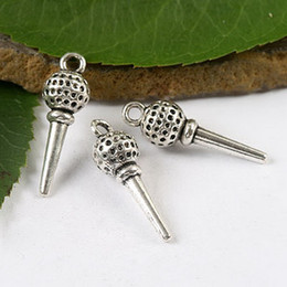 Wholesale golf balls tees wholesale - 25pcs Tibetan silver a golf ball on a tee SIZE(Approx): 25.9x8.1mm Material:Zinc Alloy Metal(lead free) charms H1687