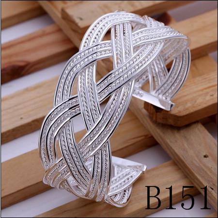 Ordem misturada de alta qualidade banhado a prata esterlina 925 bangles moda jóias clássico para as mulheres presente de Natal frete grátis 9 pçs / lote