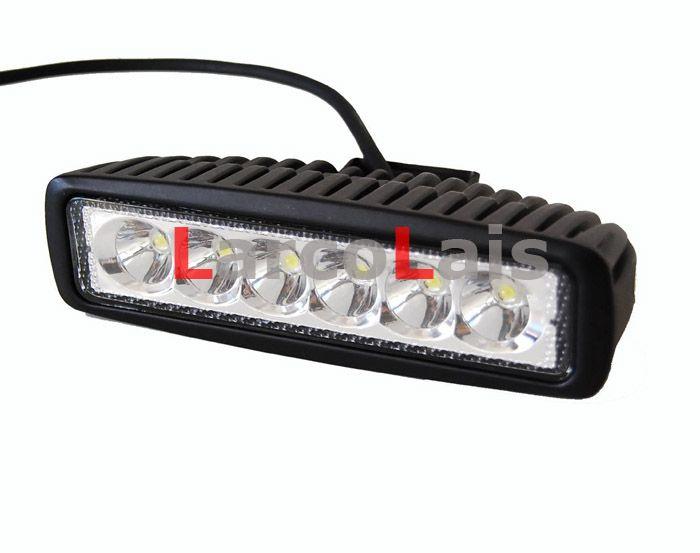 LarcoLais 18w LED ضوء العمل على الطرق الوعرة القيادة ATV 4X4 4WD Jeep Truck Heavty Duty High Power Light Bar Pencil Spread Beam