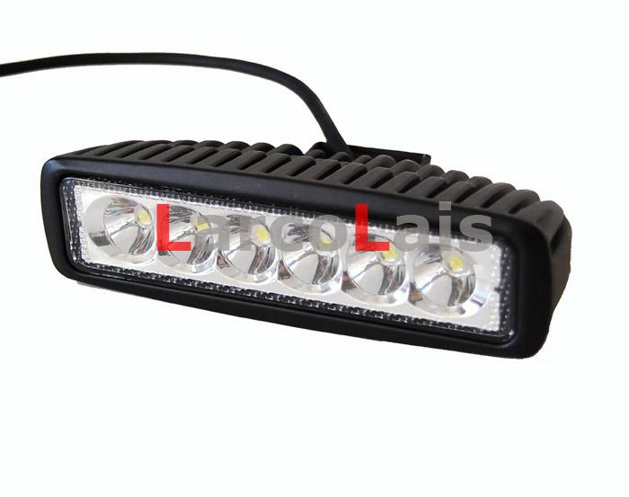 LarcoLais 18w LED 작업 조명 오프로드 운전 ATV 4X4 4WD 지프 트럭 헤비 듀티 고출력 라이트 바 연필 확산 빔