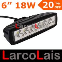alta potência atv venda por atacado-LarcoLais 18 w LED Trabalho Luz Off Road Condução ATV 4X4 4WD Jeep Truck Heavty Dever High Power Light Bar Lápis Espalhar Feixe