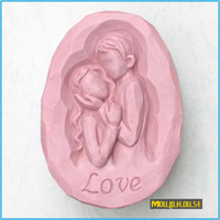 Wholesale Silicone Soap Wedding Mold - love Handmade soap silicone mold , fondant cake chocolate candle moulds,party wedding cake decorating mould