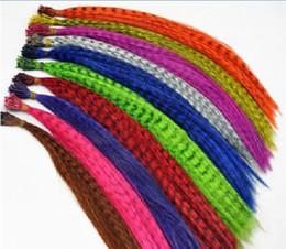Extensões bonitas da pena da extensão do cabelo da pena de 40cm da polegada 40 partes / lote do rafi