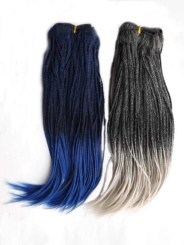 Mix colors braided weft 14inch color1bblue 1bwhite tcolor 10pcslotmix colors braided weft 14inch color1bblue 1bwhite tcolor fashion braiding weaving braid hair extension pmusecretfo Choice Image