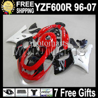 Wholesale Yamaha Yzf Thundercat Fairing - 7gifts+TankFor YAMAYA ! Thundercat YZF600R 96-07 YZF 600R NEW Red MT27 YZF-600R 96 97 98 99 00 01 02 03 04 05 06 07 black white Fairing Kit