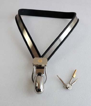 Cintura di castità in acciaio inossidabile modello Y-tipo regolabile in cinturino classico maschile adulti giocattoli uomini bondage