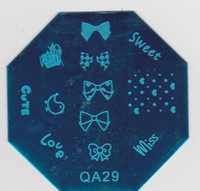 tırnak basma plakaları toptan satış-Tırnak Plakası Fabrika Promosyon QA01-30 Tırnak Damga Plaka Mix Tasarım Görüntü Plakası Güzellik Tırnak Bakımı # 130 Için