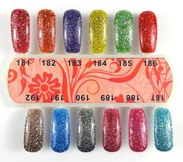 Halloween Uv Canada - Best Quality UV Gel Nail Polish 192 Fashion Colors Available Nail Gel Nail Art Soak Off Nail Polish 6PCS Free Shipping#133