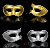 Wholesale Masquerade New Years Masks - masquerade costume party new year christmas halloween dance women sexy mix face mask venetian masks