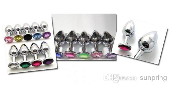 Mini Anal plug Butt, Butin Bead Sex Toy, Acier Inoxydable Cristal Sex Toys Taille Petit par DHL /