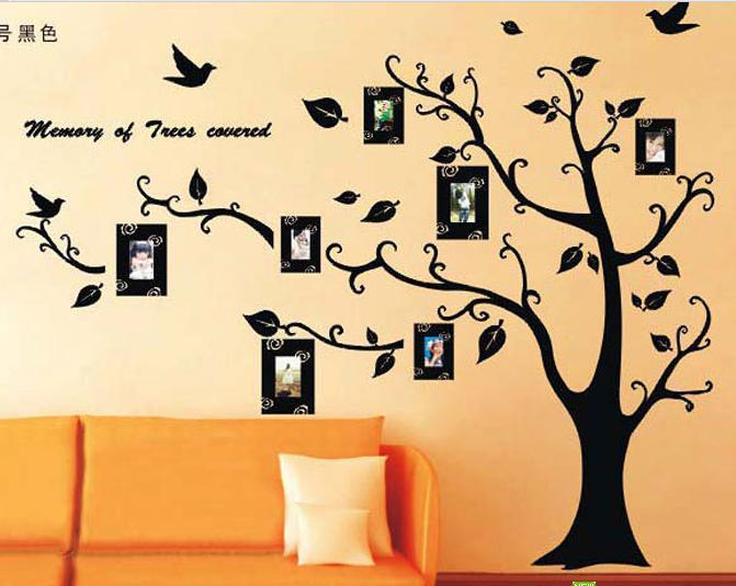 Black Photo Tree D Removable Wall Stickers Living Room Tv Sofa - Wall stickers for bedroom