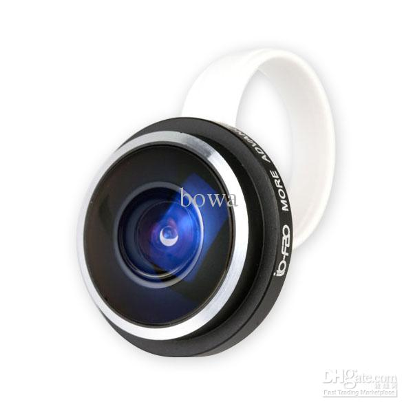 Wholesale - New 235 degree super Clip Fisheye lens for iPhone 4 5 Samsung Galaxy S3 S4 Note2 NOKIA 920 HTC ONE