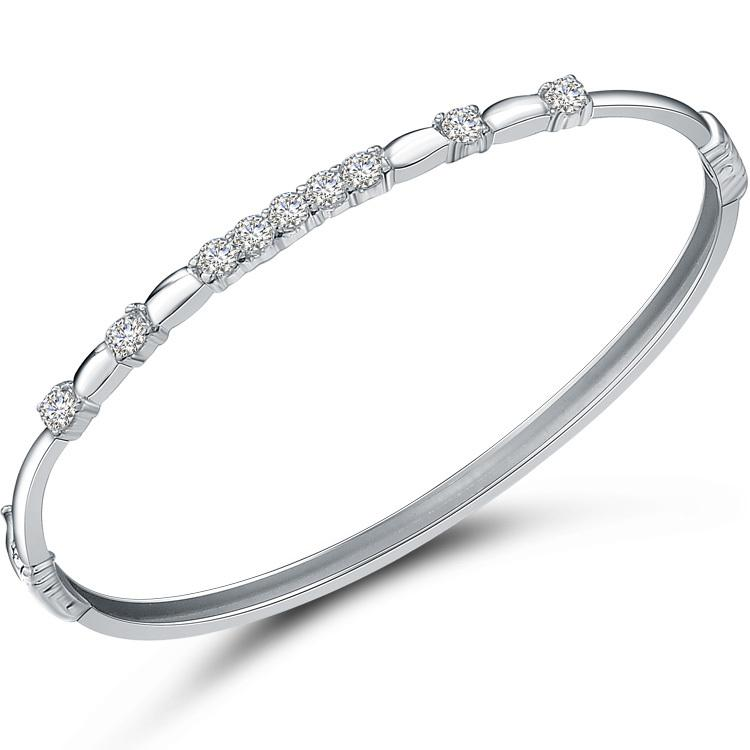 bellman sterling diamond bangle ostbye bangles bracelet products silver jewelers