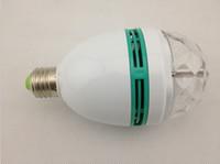 Wholesale E27 3w Colorful Rotating - LED Mini E27 E26 B22 Party Light Disco Stage Lighting RGB Colorful Rotating lamp Magic Ball Bulb