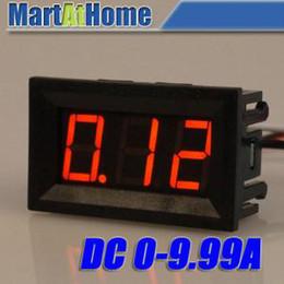 mètre ampères Promotion Livraison Gratuite DC 0-9.99A Panneau Rouge Compteur Numérique Courant Ampèremètre Ampère Panneau Mètre 4.5-28VDC BV205 @ CF