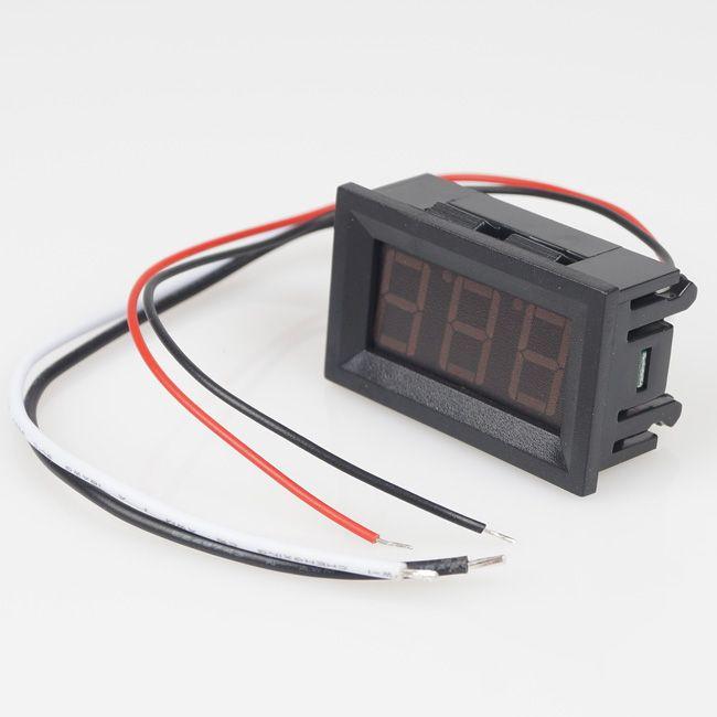 Gratis verzending DC 0- 9.99A rood Panel Meter Digitale Huidige Ampeter Ampere Panel Meter 4.5-28VDC BV205 @CF