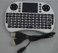 teclado sem fio multi touch venda por atacado-Venda por atacado - QUENTE! 2.4G Teclado QWERTY sem fio do wifi com almofada de toque Esquilo / rato de vôo do ar para o telefone / almofada / PC / Smart TV Frete Grátis