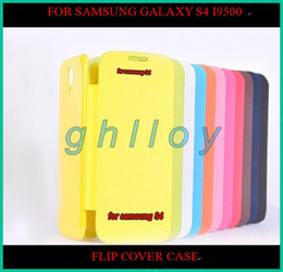 Wholesale Galaxy S4 Flip Retail - Flip Leather Case Cover for Samsung Galaxy S4 i9500 with Retail Package 10pcs lot