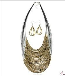 Argentina Nuevo envío caliente gratuito con número de seguimiento Nuevo collar de perlas hechas a mano pendiente 30 set / lot 720 Suministro